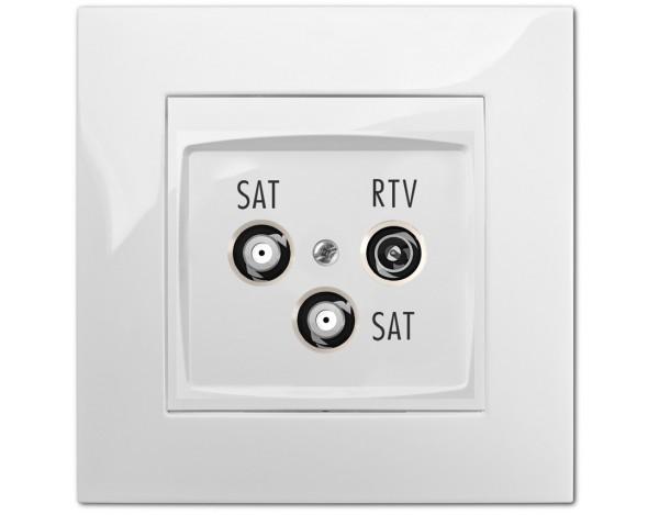 CARLA gniazdo podtynkowe R-TV 2xSAT końcowe