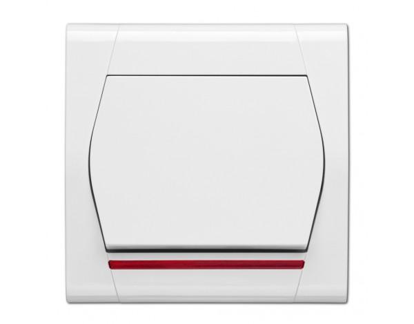 QUATTRO włącznik jednobiegunowy z podświetleniem