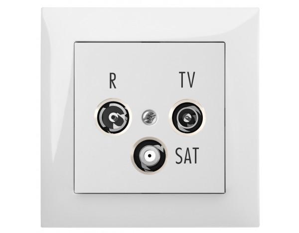 SENTIA gniazdo podtynkowe R-TV-SAT 10 dB bez ramki