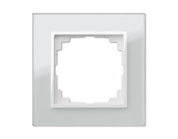 SENTIA ramka szklana biała