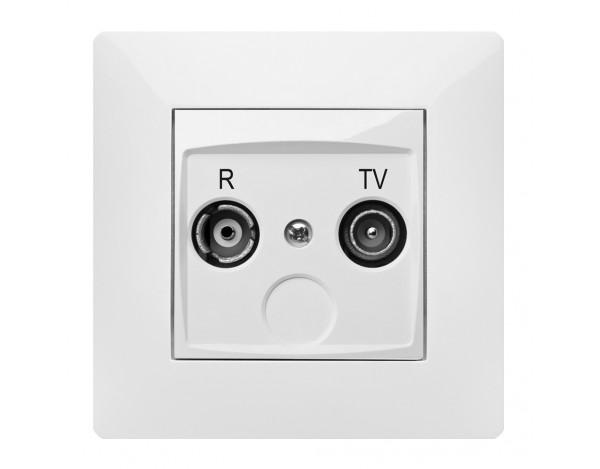 VOLANTE gniazdo R-TV końcowe z ramką