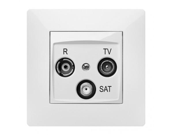 VOLANTE gniazdo R-TV-SAT końcowe z ramką