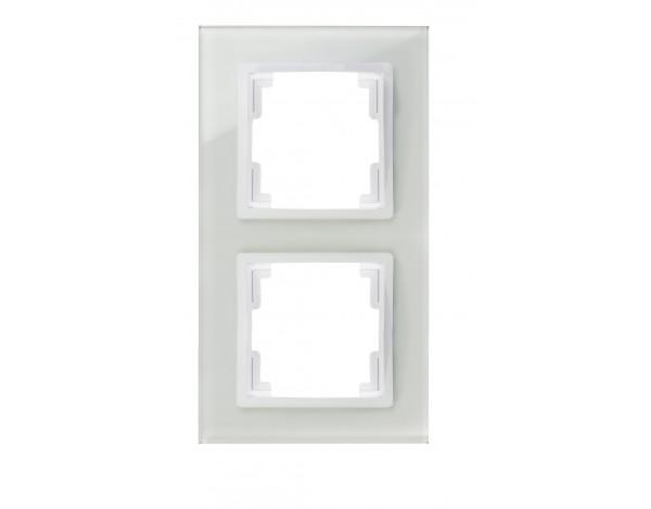 VOLANTE ramka 2x szklana biała