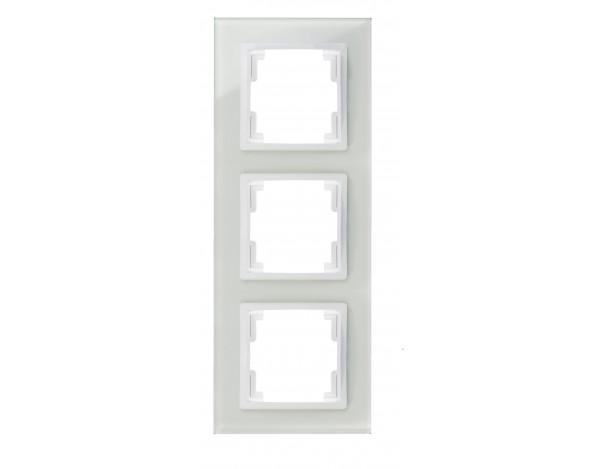 VOLANTE ramka 3x szklana biała