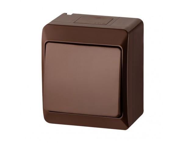 HERMES włącznik pojedyńczy brązowy