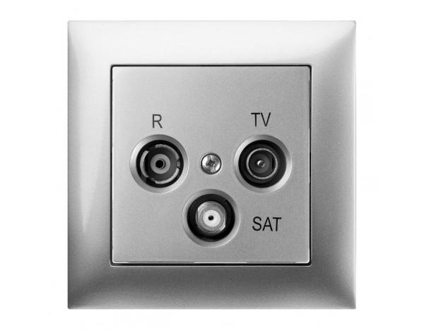 SENTIA gniazdo podtynkowe R-TV-SAT 10 dB