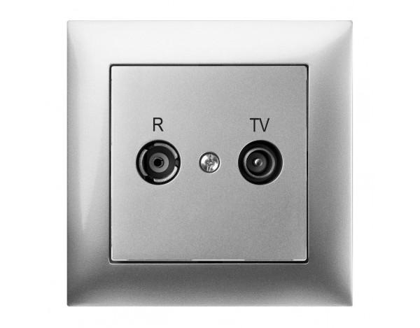 SENTIA gniazdo podtynkowe R-TV końcowe bez ramki
