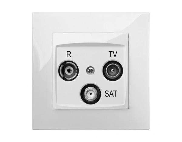 CARLA GNIAZDO PODTYNKOWE R-TV-SAT 10 dB BEZ RAMKI