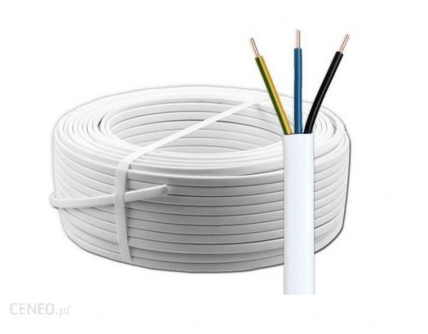 Przewód YDYp 3x2,5 biały 450/750/100m